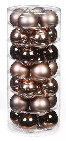 Glaskugeln / Christbaumkugel 15101 BRAUN ELEGANT-LOUNGE-MIX 45mm 28Stück