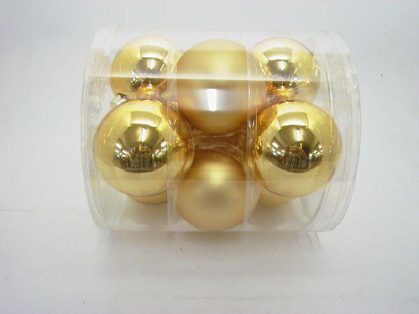 Glaskugeln / Christbaumkugel GOLD combi 90mm 9St.