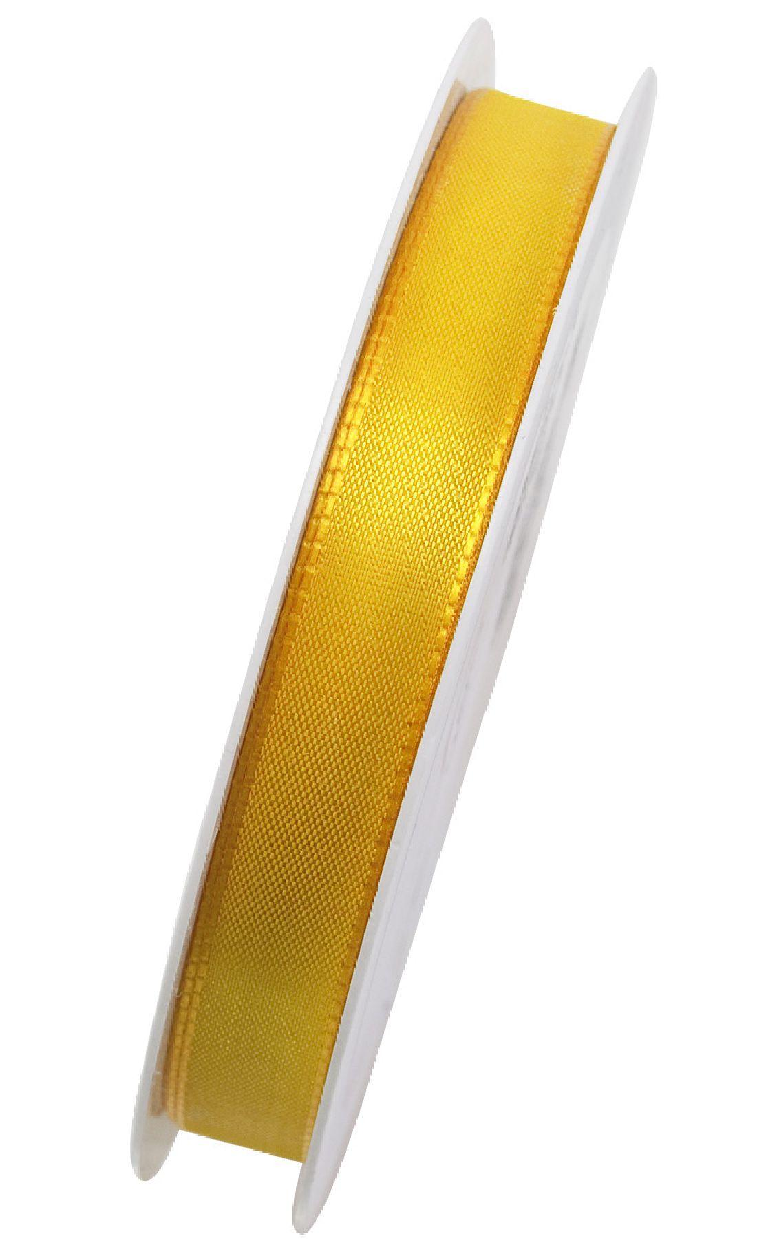 Basic ohne Draht / Taftband HELLGELB 10 15mm 50m
