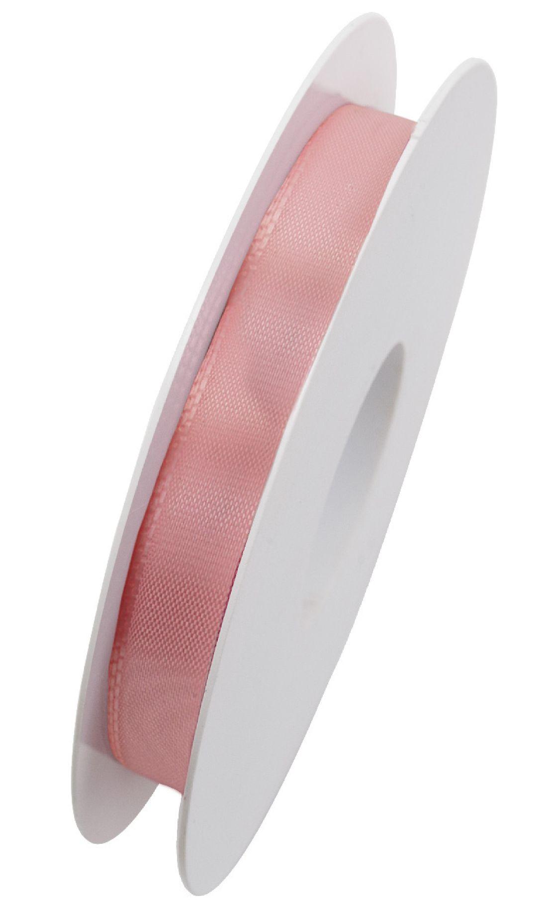 Basic ohne Draht / Taftband HELLROSA 211 15mm 50m