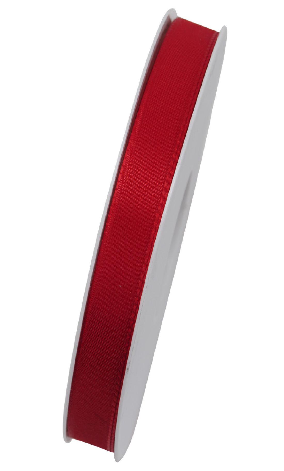 Basic ohne Draht / Taftband ROT 20 15mm 50m