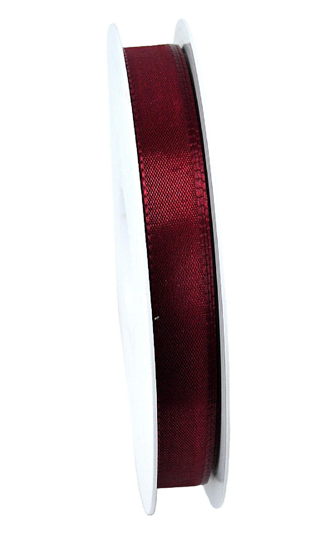 Basic ohne Draht / Taftband DUNKELROT 26 15mm 50m