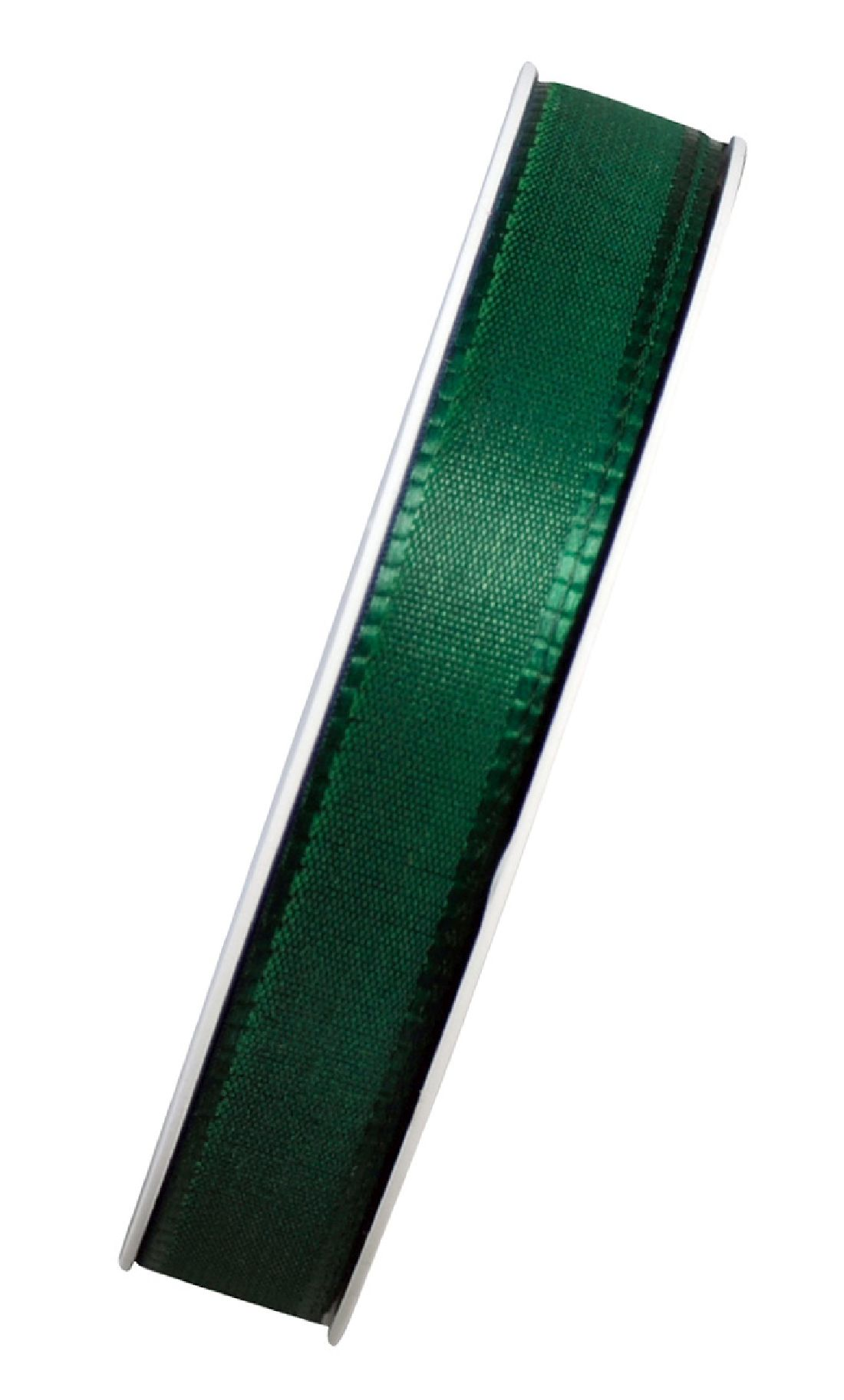 Basic ohne Draht / Taftband DUNKELGRÜN 59 15mm 50m