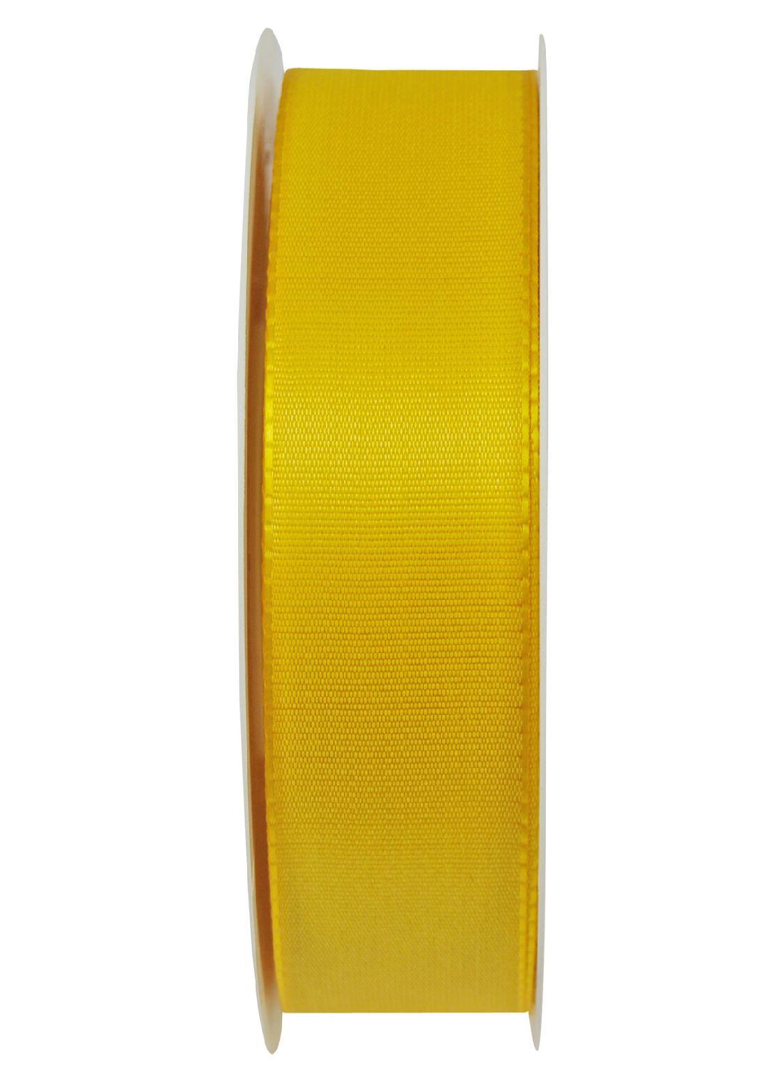 Basic ohne Draht / Taftband HELLGELB 10 25mm 50m