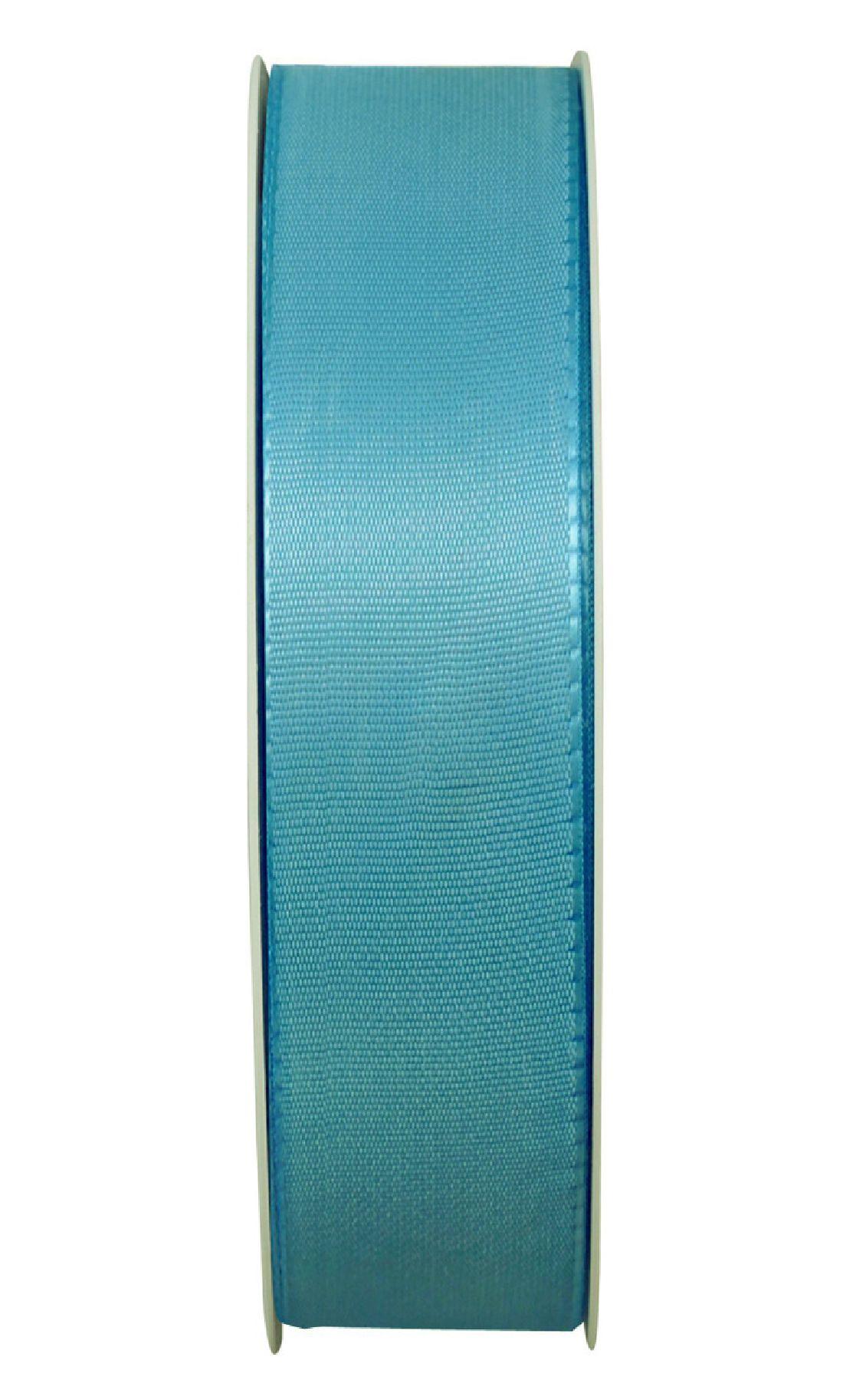 Basic ohne Draht / Taftband TÜRKIS 377 25mm 50m