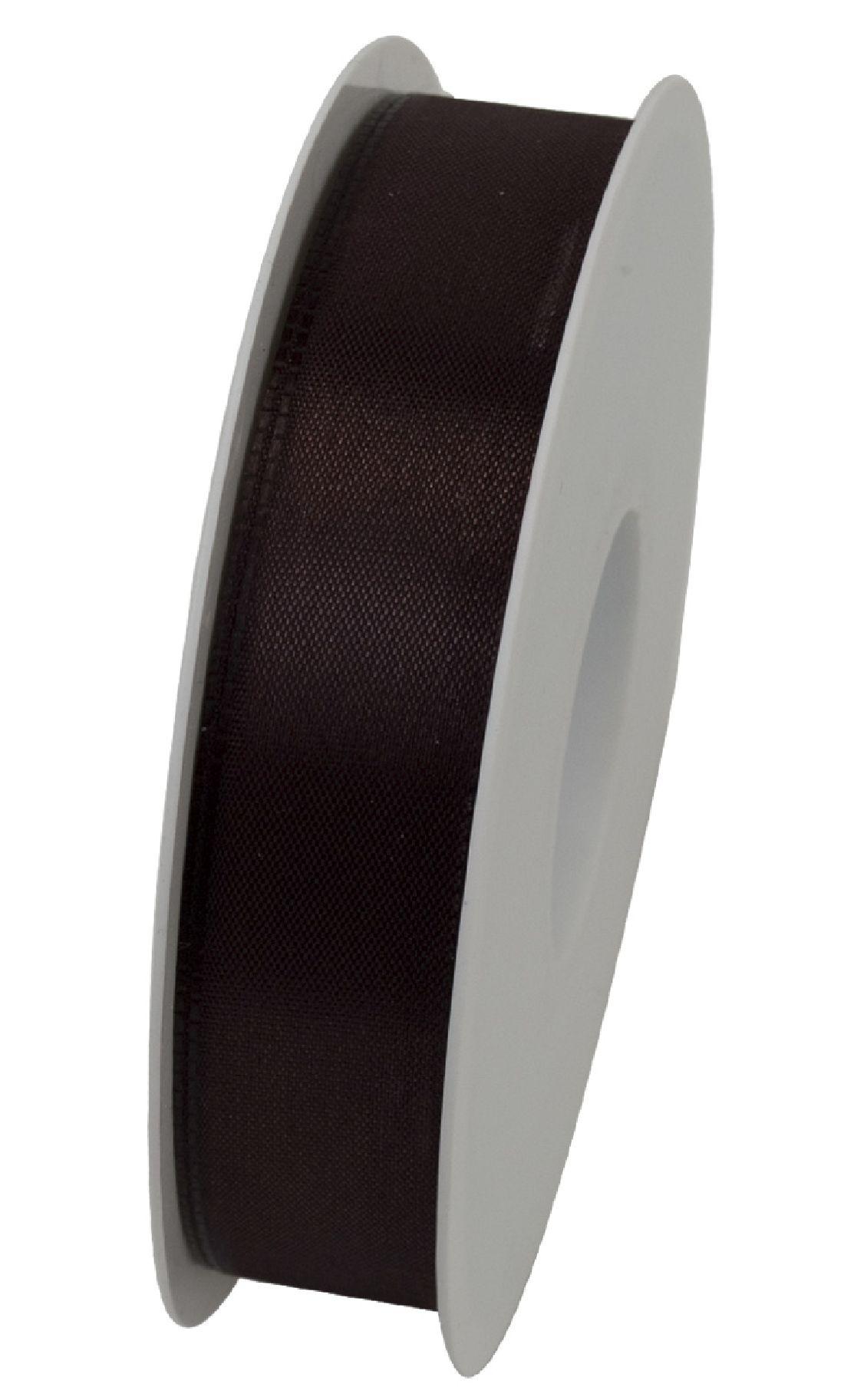Basic ohne Draht / Taftband BRAUN 70 25mm 50m