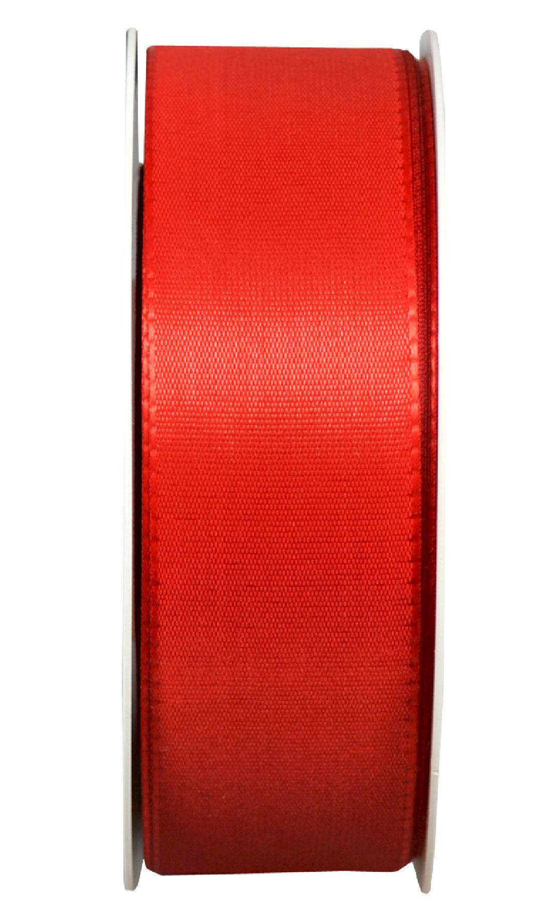 Basic ohne Draht / Taftband ROT 20 40mm 50m