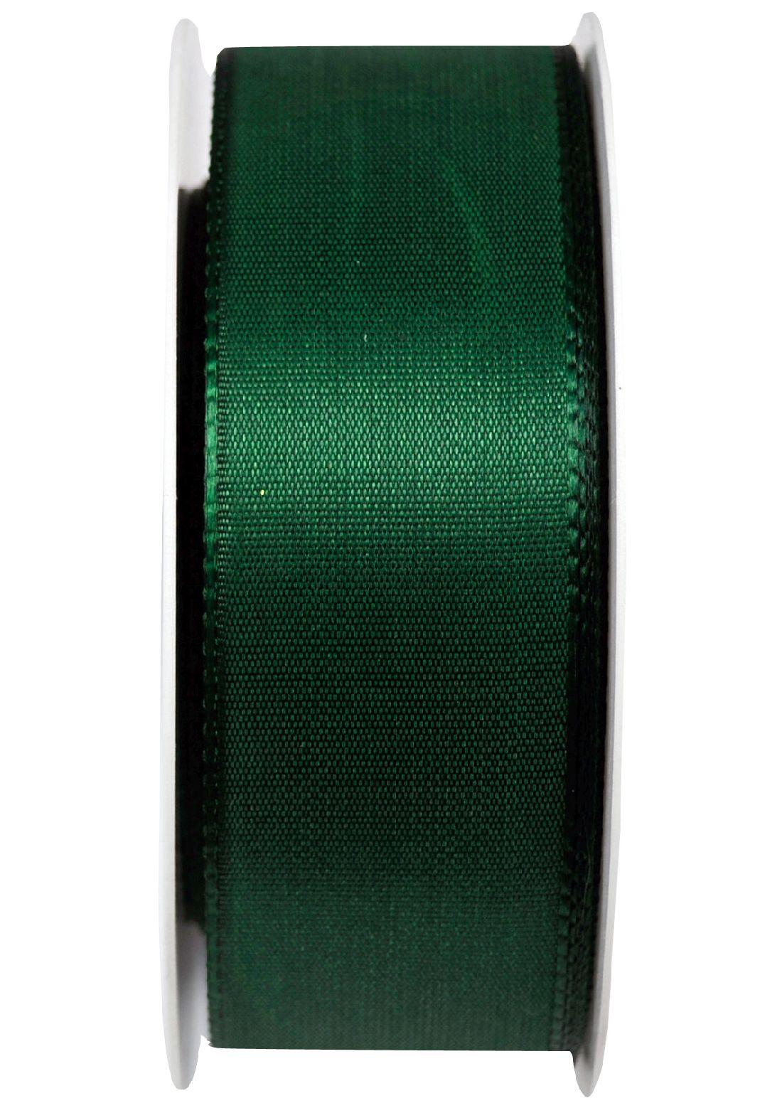 Basic ohne Draht / Taftband DUNKELGRÜN 59 40mm 50m