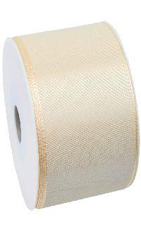 Basic ohne Draht / Taftband CREME 021 60mm 50m