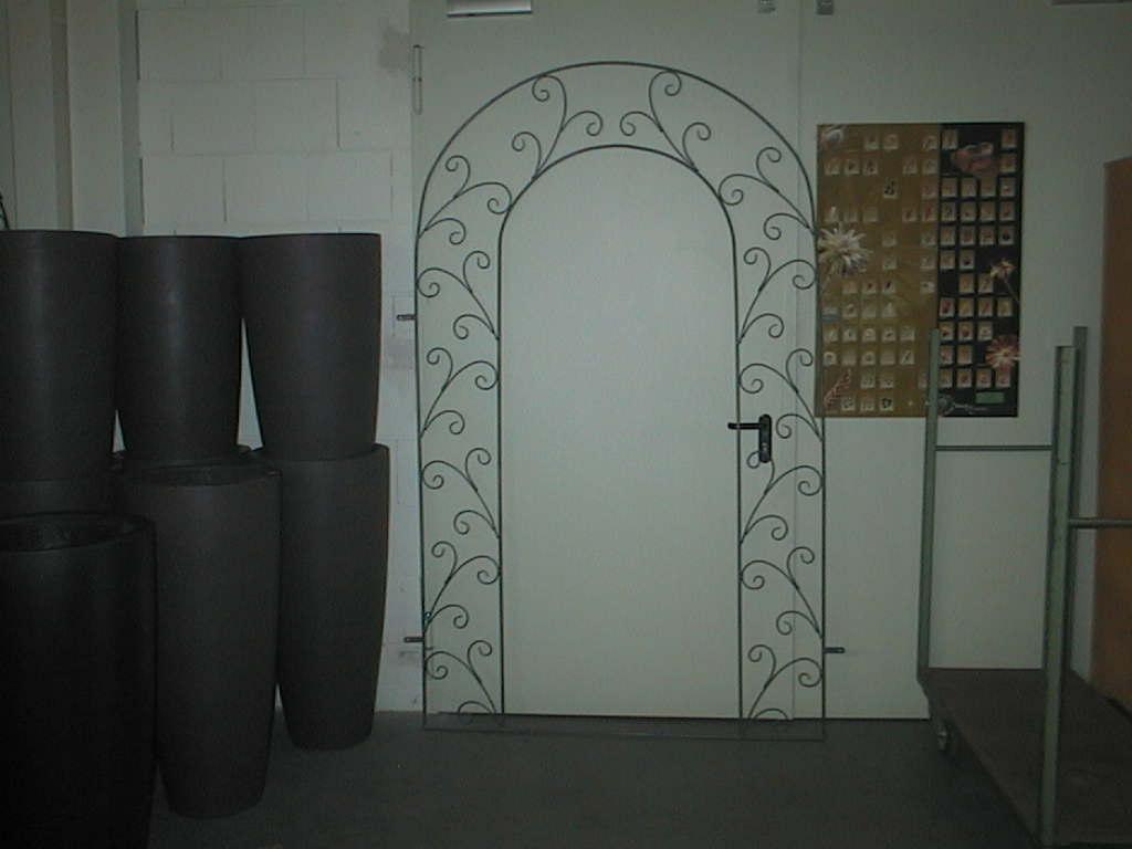 Rosenbogen flach grau 230x140cm