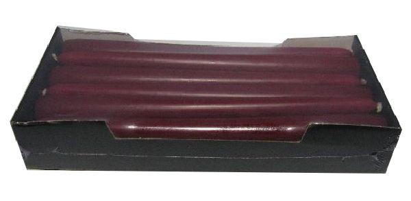 Spitzkerze konisch 67 BORDEAUX 250 / 25mm