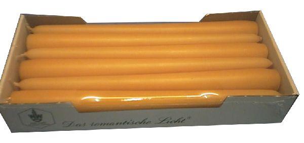 Spitzkerze konisch 43 cognac 250 / 25mm