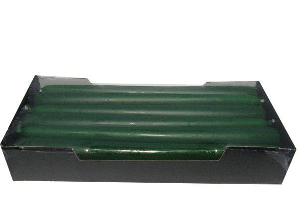 Spitzkerze konisch 08 DUNKELGRÜN 250 / 25mm