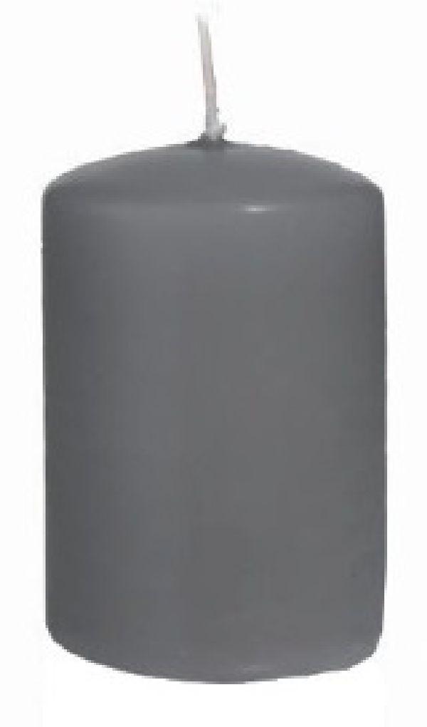 Stumpenkerzen  FK SILBERGRAU 104 H130mm Ø70mm ca.52h Brenndauer