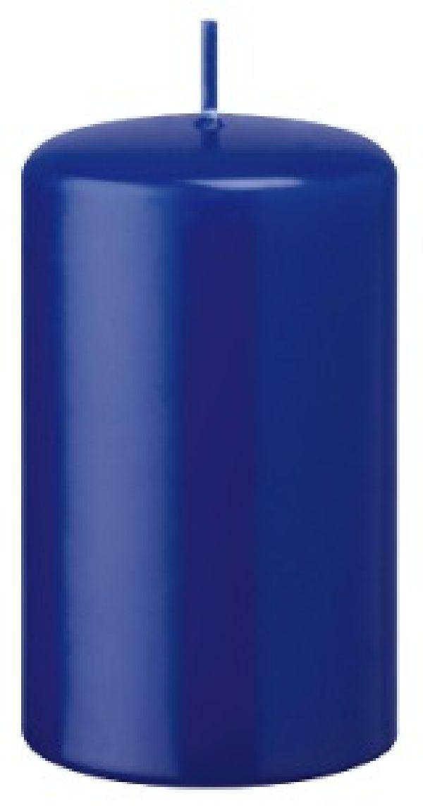 Stumpen 100er FK 98 royalblau ohne Cello H200 Ø100mm