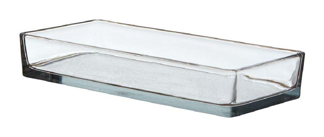 Kastenschale Glasstein KLAR Glasbaustein 1794/24x11cm