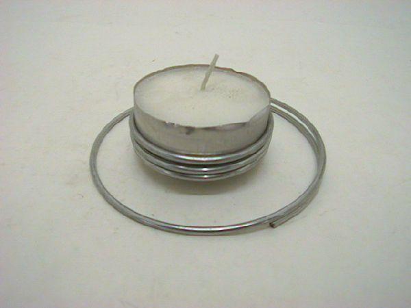 Teelichthalter f.großes Teelic SILBER 6cm / 12cm ausen