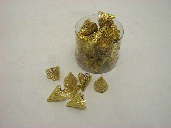 Abschluß für Band +Stoff GOLD 16+22mm