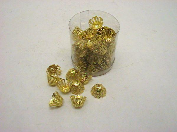 Abschluß für Band +Stoff GOLD mini caps