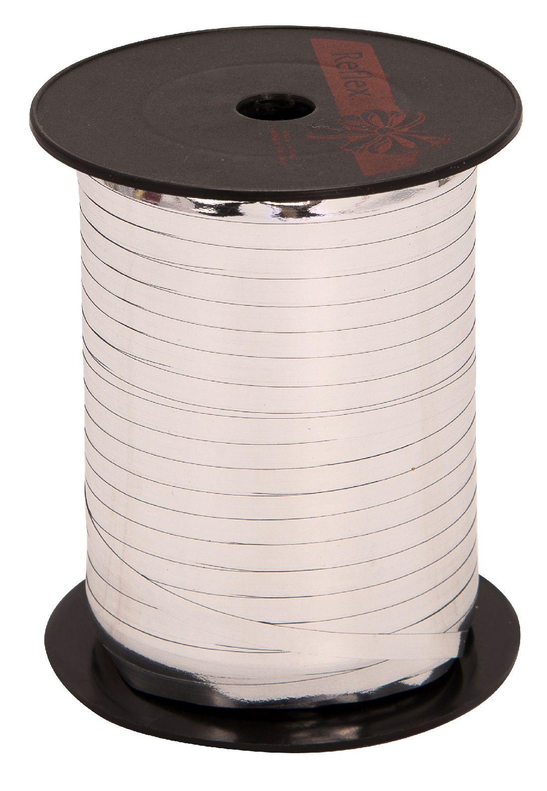 Kräuselband metallic, Ziehband SILBER 19 Geschenkband 5mm 500Meter