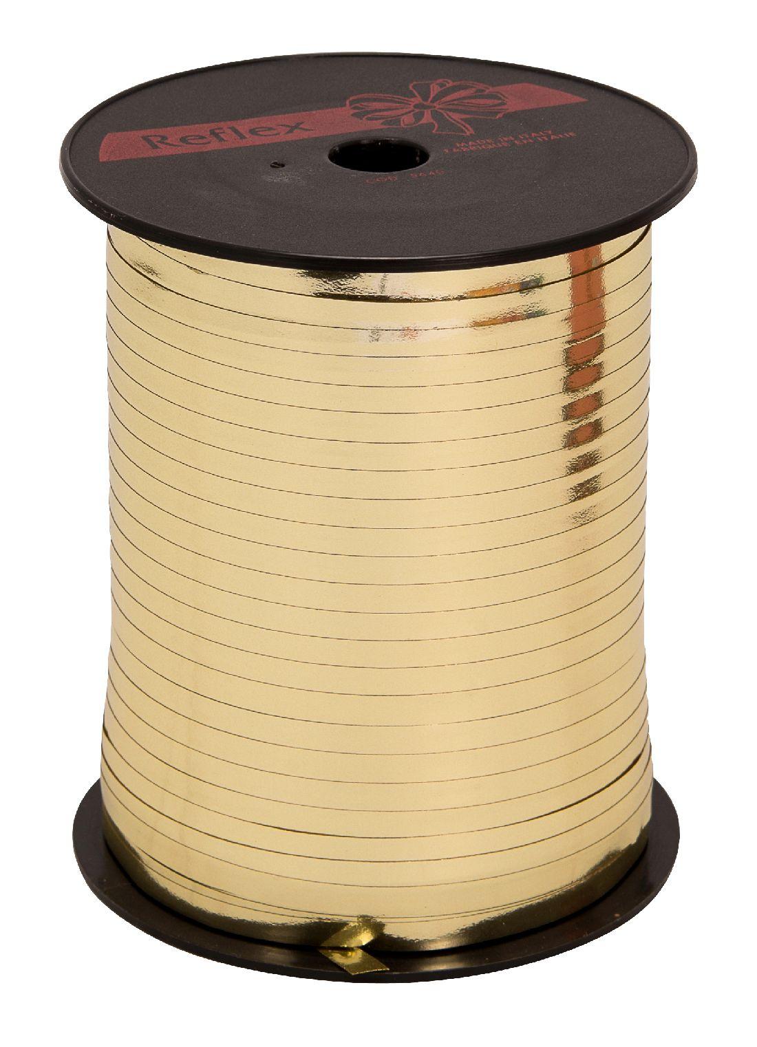 Kräuselband metallic, Ziehband GOLD 02 Geschenkband 5mm 500Meter
