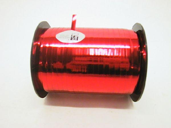 Kräuselband metallic, Ziehband ROT 01 Geschenkband 5mm 500m 65 01