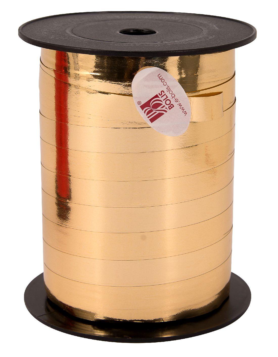 Kräuselband metallic, Ziehband GOLD 02 Geschenkband 10mm 250Meter