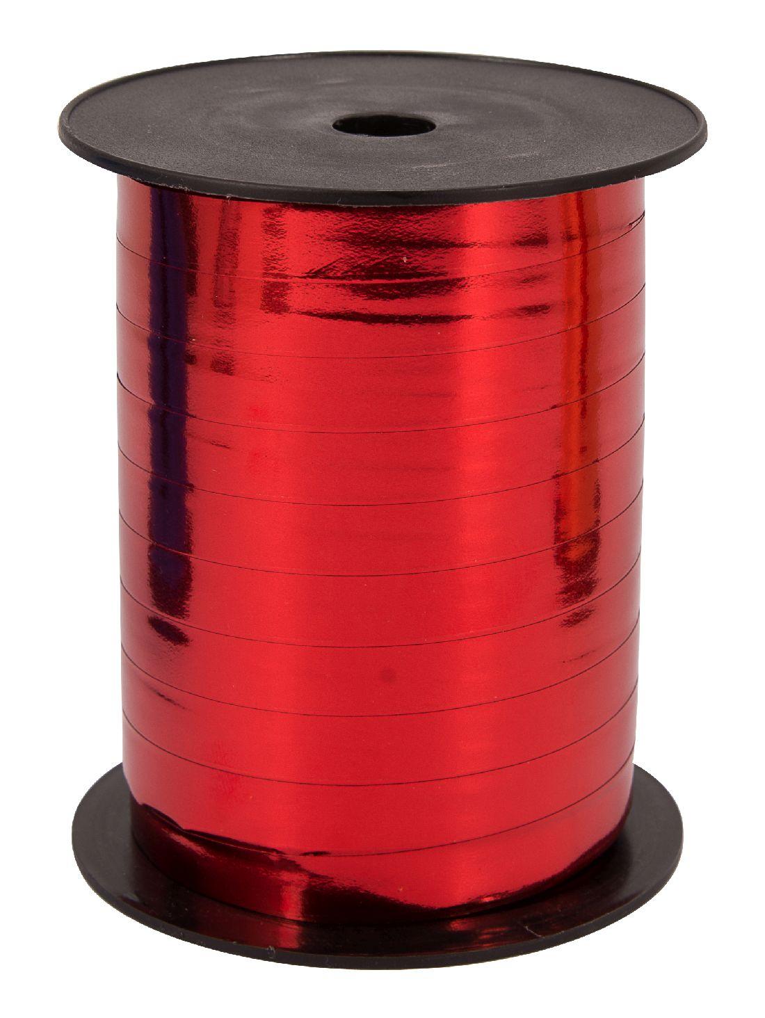 Kräuselband metallic, Ziehband ROT 01 Geschenkband 10mm 250Meter