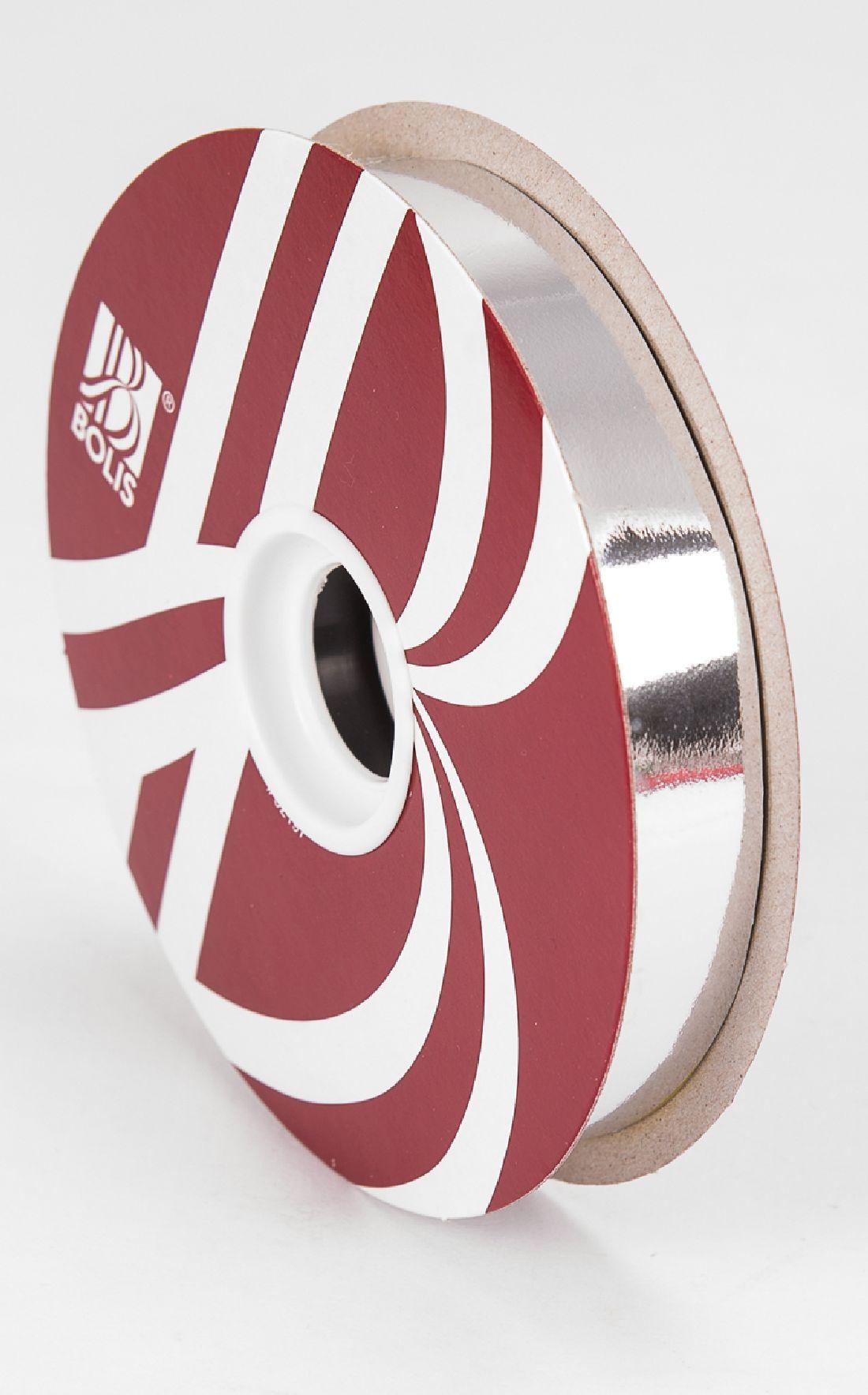 Kräuselband metallic, Ziehband SILBER 19 Geschenkband 19mm 100Meter