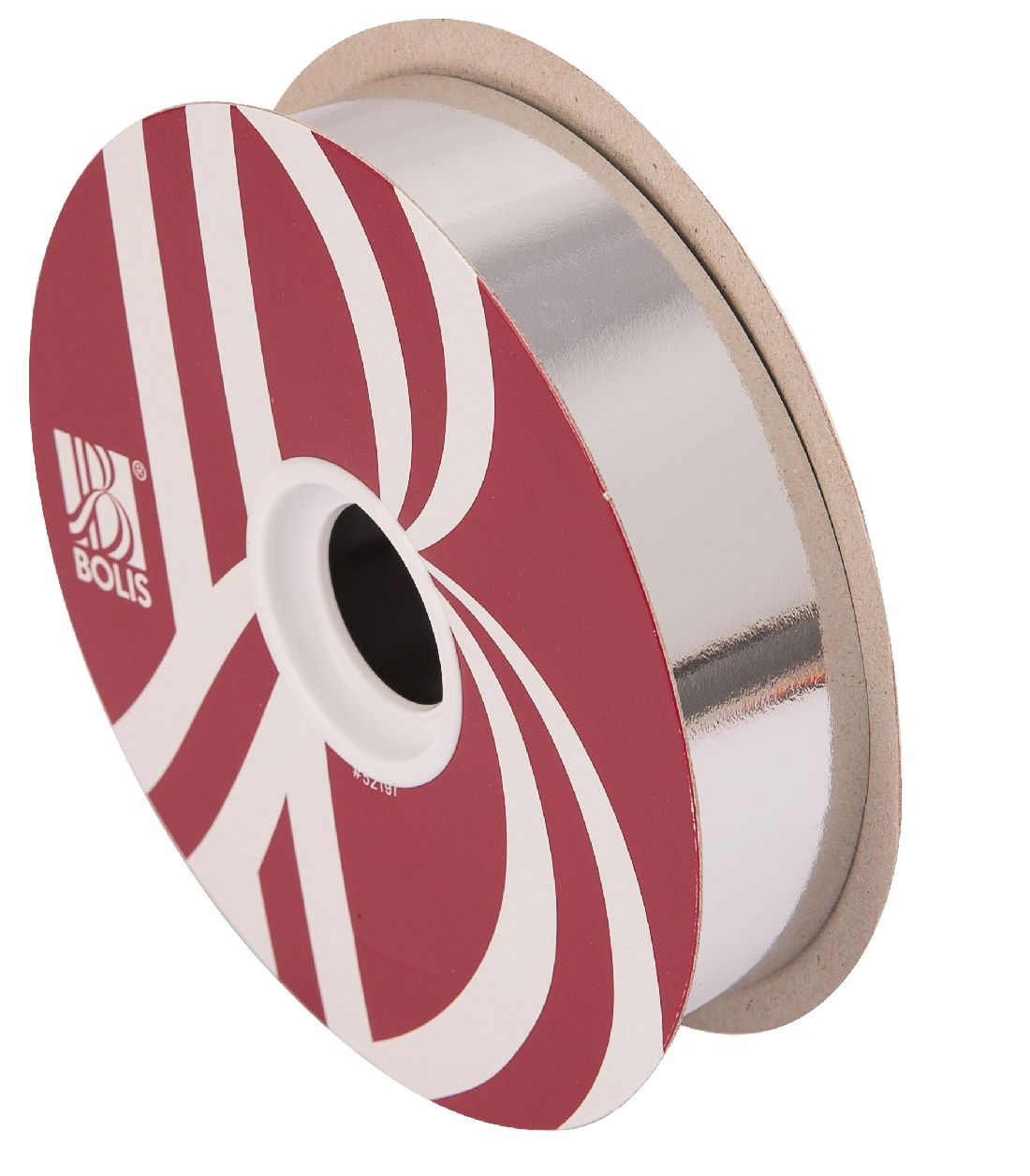 Kräuselband metallic, Ziehband SILBER 19 Geschenkband 30mm 100Meter