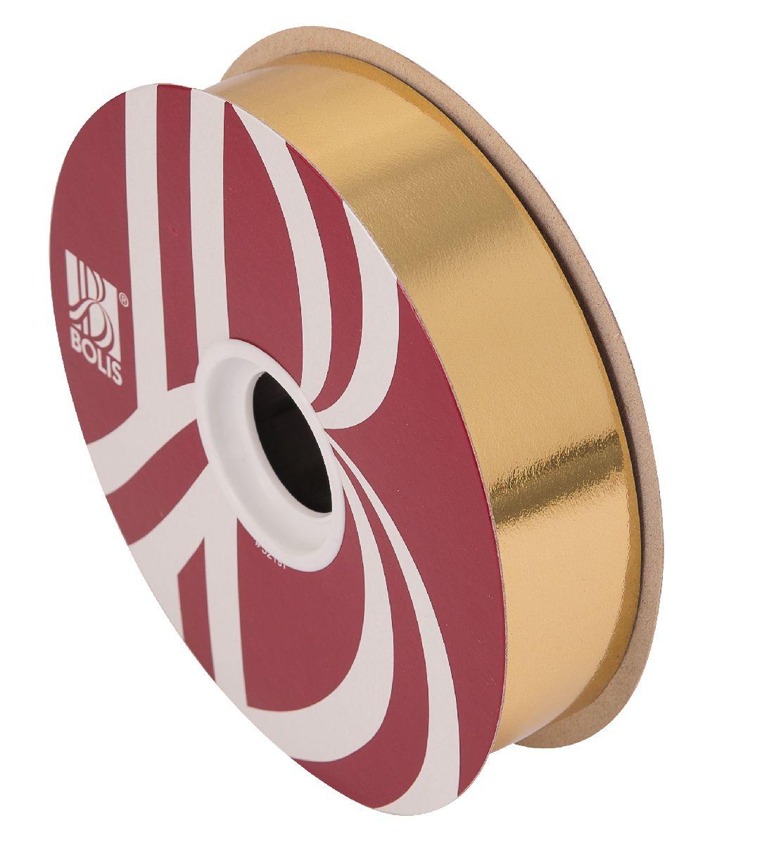 Kräuselband metallic, Ziehband GOLD 02 Geschenkband 30mm 100Meter