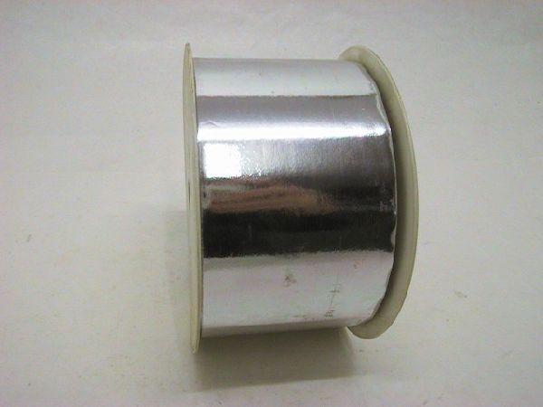 Kräuselband metallic, Ziehband SILBER 19 Geschenkband 70mm 100m