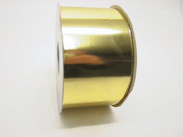 Kräuselband metallic, Ziehband GOLD 02 Geschenkband 70mm 100m
