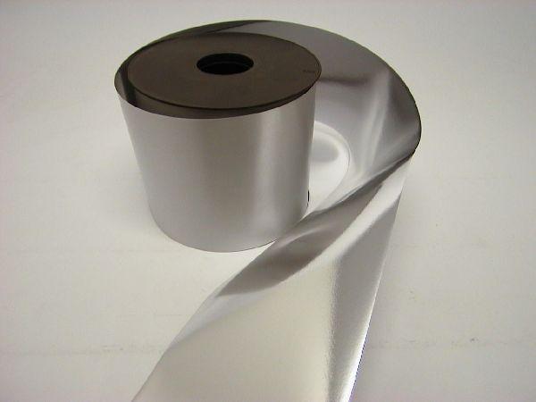 Kräuselband metallic, Ziehband SILBER 19 Geschenkband 100mm 50m