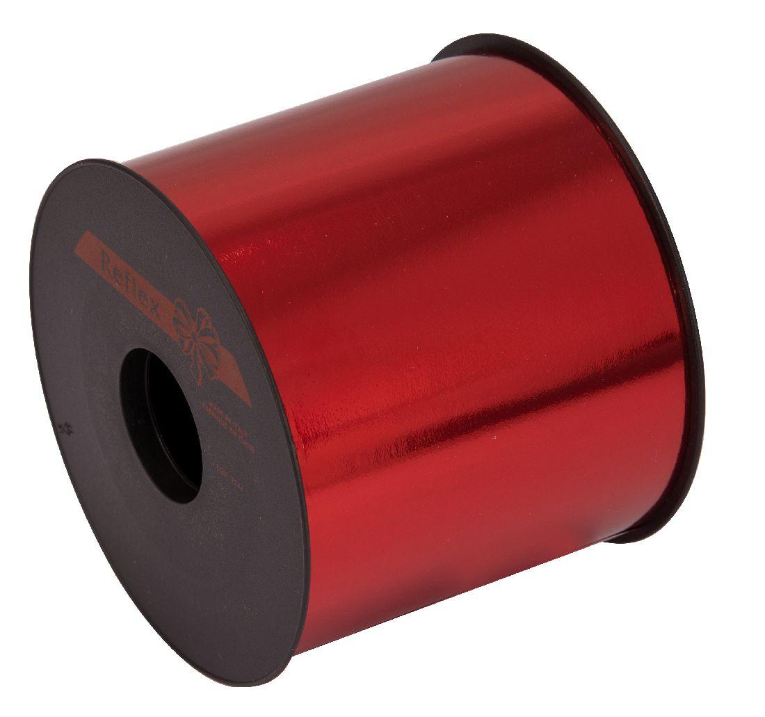 Kräuselband metallic, Ziehband ROT 01 Geschenkband 100mm 50Meter