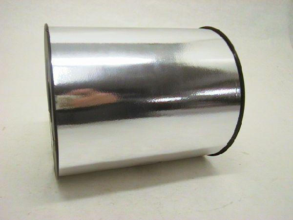 Kräuselband metallic, Ziehband SILBER Geschenkband 140mm 50m