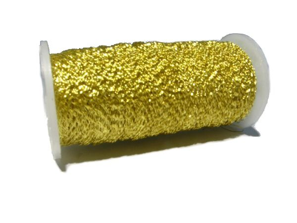 Bouillondraht Effektdraht GOLD Effekt 1 Rolle