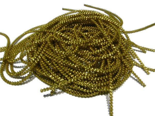 Bouillondraht Effektdraht GOLD 100 Gramm grob