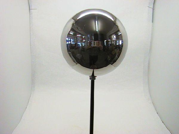 Gartenstab m.Met.-kugel silber 15cm 150cm