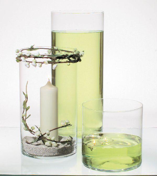 Zylinder Glas KLAR 66016 Ø25cm x H25cm