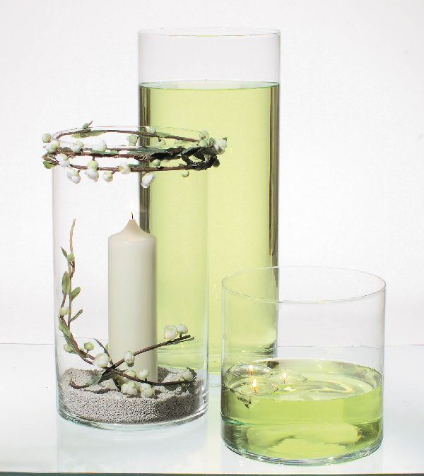 Zylinder Glas KLAR 28031 Ø25cm x H45cm