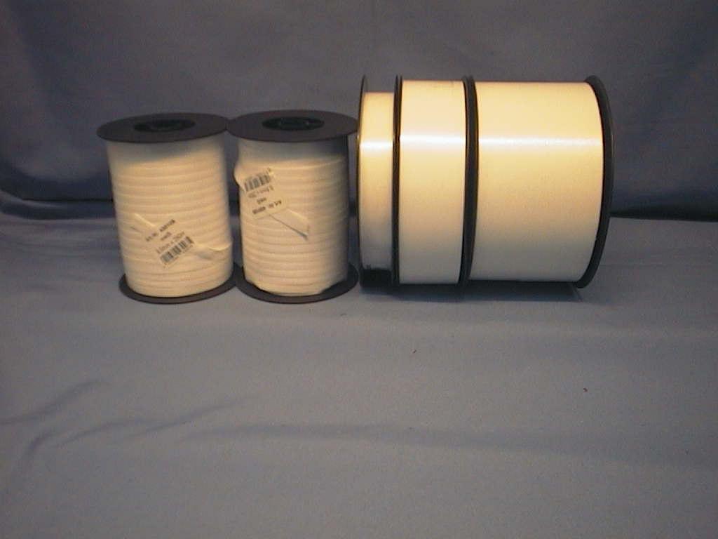 Kräuselband, Ziehband WEISS 05 9,5mm 250m