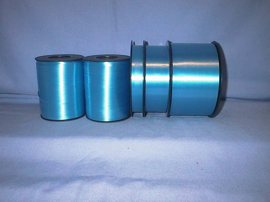 Kräuselband, Ziehband BLAU 20 9,5mm 250m