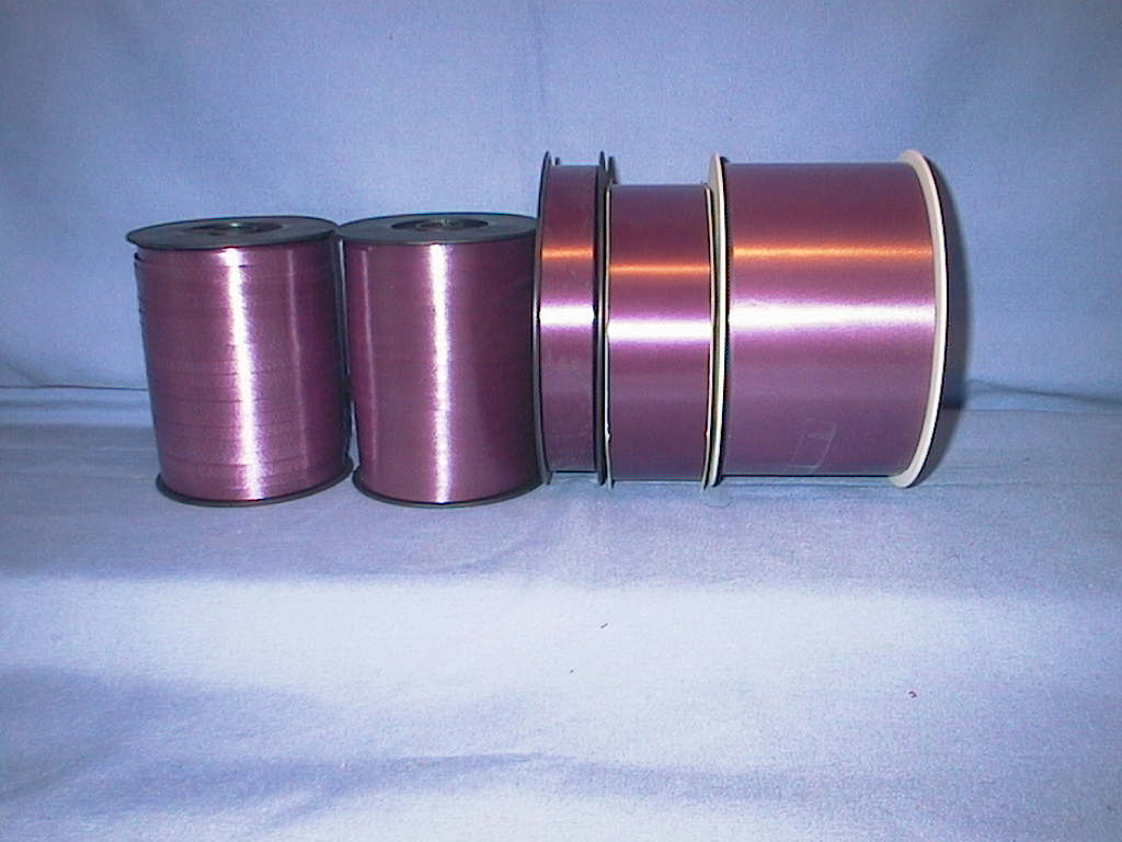 Kräuselband, Ziehband BURGUND 18 19mm 91m