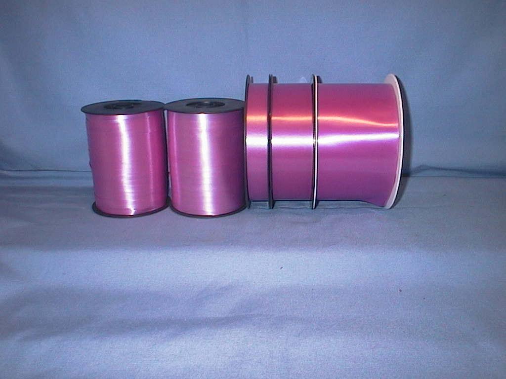 Kräuselband, Ziehband PINK 17 75mm 91m