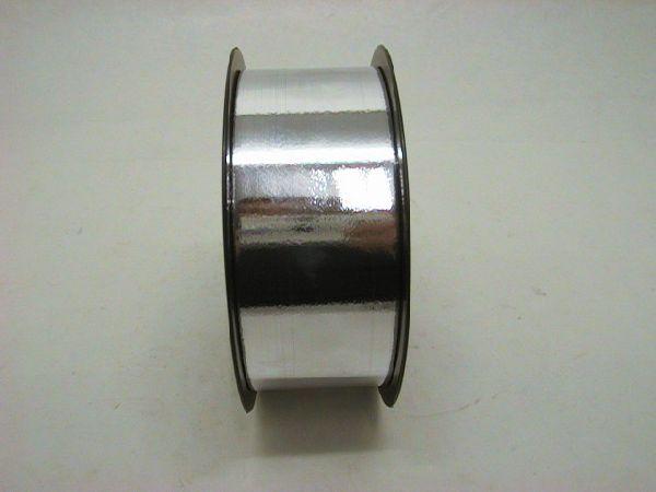 Kräuselband, Ziehband SILBER metallic 50mm 100y