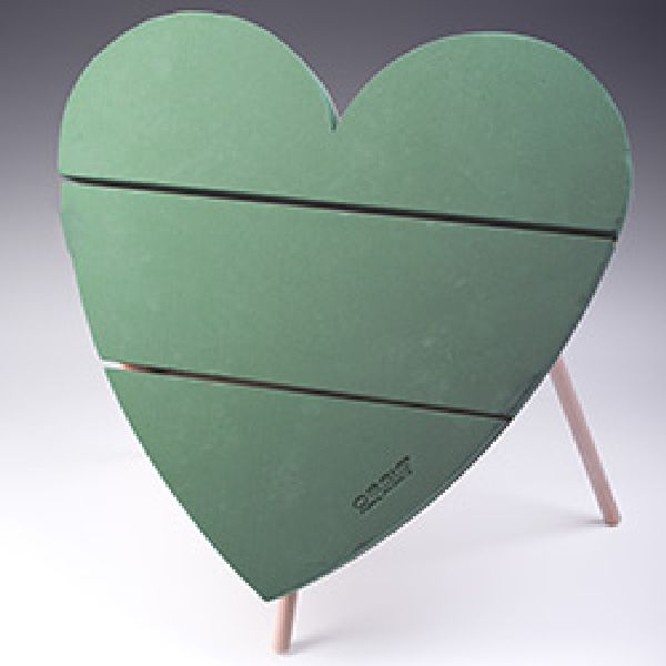 Oasis® Bioline® GRÜN mit Aufstellvorrichtung Herz 60 x 60 cm 11-07304
