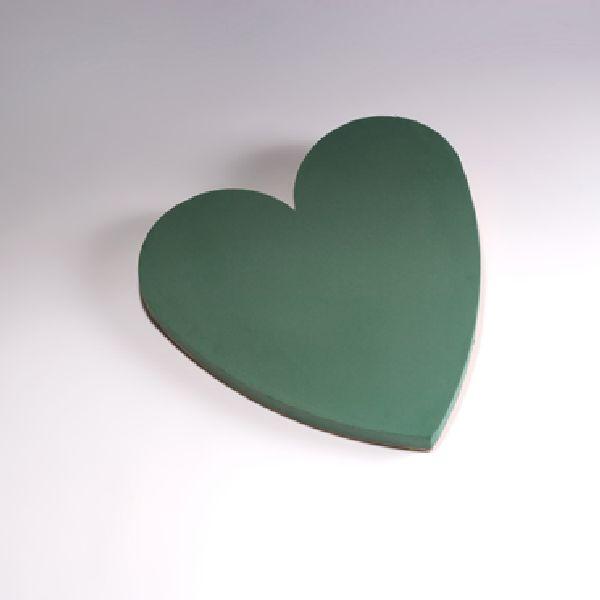 Oasis® Bioline® GRÜN mit Holzunterlage Herz 60x60x5,5cm 11-07397