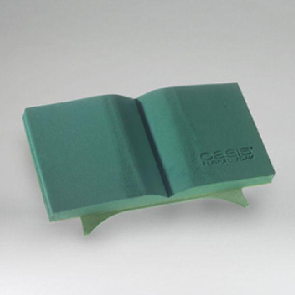 Oasis® Bioline® GRÜN 11-07404 Offenes Buch 40x20x4,5cm mini