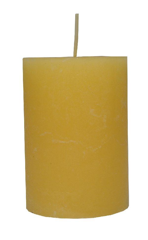 Rustic Zylinderkerze Vanille 18 100x70mm durchgefärbt